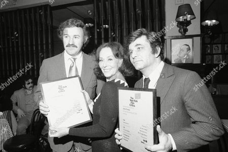 Gene Hackman, Paulette Goddard, Peter Falk Attending the New York Film Critics awards party, from left are Gene Hackman, Paulette Goddard and Peter Falk. Falk accepted an award for Jane Fonda
