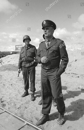 "Robert Duvall portrays the title character in ""Ike,"" a made-for-TV miniseries which will feature a reenactment of the Allied landing at Omaha Beach, and also starring Richard Herd as Gen. Omar Bradley and Paul Gleason as Tex"