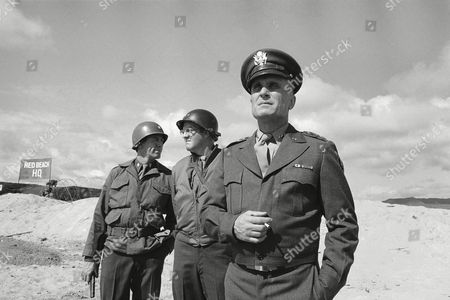 "Stock Picture of Robert Duvall portrays the title character in ""Ike,"" a made-for-TV miniseries which will feature a reenactment of the Allied landing at Omaha Beach, and also starring Richard Herd as Gen. Omar Bradley and Paul Gleason as Tex"