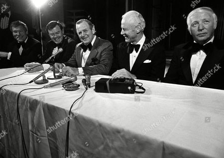 Jim Owens, Darrell Royal, Paul Bryant, Bud Wilkinson, John McKay Some of the nation's most respected football coaches were on hand in Seattle, Washington, to honor Jim Owens, far left, who retired as head football coach at the University of Seattle, after 18 years. With Owens are, left to right, Darrell Royal, of Texas; Paul Bear Bryant of Alabama; Bud Wilkinson, who retired several years ago from Oklahoma; and John McKay of Southern California