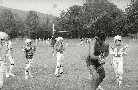 Editorial photo of Joe Namath Quarterback Footbal Camp, Hamden, USA