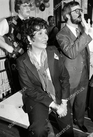 """Horne Singer-actress Lena Horne, left, is shown during rehearsal for her one-woman Broadway show, Lena Horne: """"The Lady and Her Music,"""" in New York City, . At right is playwright, lyricist, composer Rupert Holmes"""
