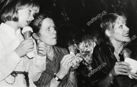 Linn Ullman, left, her mother actress Liv Ullman, center, and Lynn Redgrave, all love ice cream cones judging from appearances during a UNICEF children's party at Regine's, a New York disco