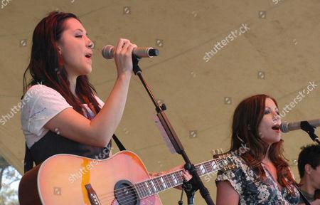 Michelle Branch and Jessica Harp