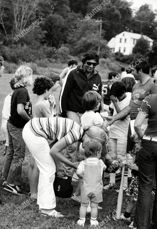 Namath Joe Namath, New York Jets quarterback, talks to young boys at a football instructional camp, run by Namath and former teammate John Dockery, in Dudley, Mass., . The Joe Namath/John Dockery Football Camp is for campers between the ages of 8-18