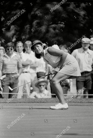 Nancy Lopez Nancy Lopezuses body English to try to make a putt fall on the 13th green during the opening round of the Lady Keystone Open in Hershey, Pa., . The putt was for a birdie, and Lopez also missed the par-putt and settled for a bogey on the hole