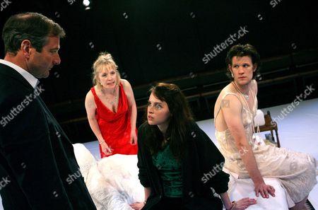 Julian Wadham (Hugh), Felicity Jones (Mia), Lindsay Duncan (Martha) and Matt Smith (Henry)
