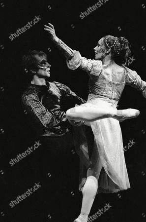 "Stock Photo of Rudolf Nureyev and Patricia Ruanne are shown at rehearsal of ""Romeo and Juliet"" with the London Festival Ballet at the Metropolitan Opera House in New York"