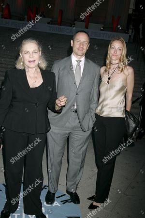 Lauren Bacall, son Sam Robards and his wife Sidsel Jensen