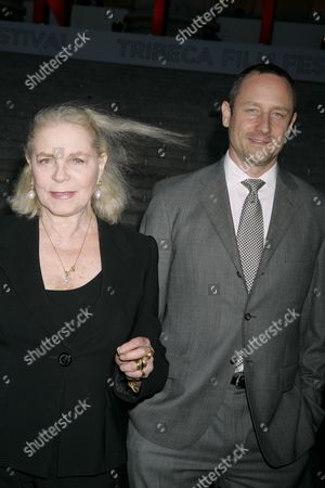 Lauren Bacall and son Sam Robards