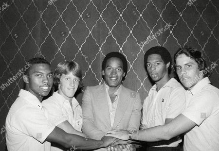 O.J. Simpson, Anthony Field, Gregg Thompson, Marcus Allen, Danny Campos Football star O.J. Simpson poses in New York with some of the winners of the Number One awards for Outstanding Sports Performance, . From left: Anthony Field of Washington, D.C., track and field; Gregg Thompson, Stillwater, Minn., football; Simpson; Marcus Allen of San Diego, Calif., football; and Danny Campos, Bayamon, Puerto Rico, baseball. The athletes were selected for their awards, which are sponsored by the Hertz Corporation, by sports writers in the 50 states, District of Columbia, and Puerto Rico