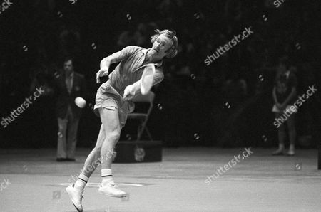 Rod Laver Australia's Rod Laver returns a shot to Arthur Ashe in the final round of the U.S. Professional Indoor Tennis Tourney in Philadelphia on . Later defeated Ashe, of Richmond, Va., in four sets to win the $100,000 tourney. It was Laver's eighteenth straight win over Ashe