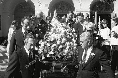 Editorial picture of Rosalind Russell Funeral, Beverly Hills, USA