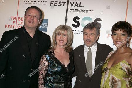 Al Gore, Tipper Gore, Robert De Niro and Grace Hightower