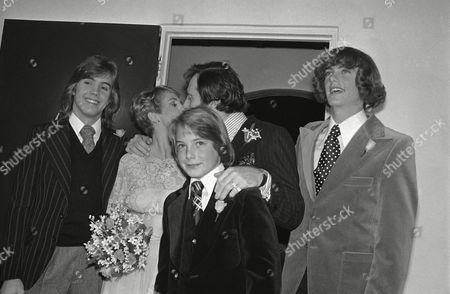 Shirley Jones, Marty Ingels, Shaun Cassidy, Patrick Cassidy, Ryan Cassidy Shirley Jones wedded to Marty Ingels. Shown are her children Shaun, Ryan and Patrick. Nancy Elliott was the maid of honor