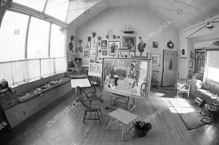 Editorial picture of Studio of artist Norman Rockwell, Stockbridge, USA