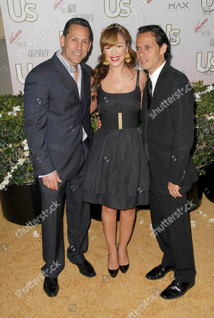 Angelo Pagan, Leah Remini and Marc Anthony