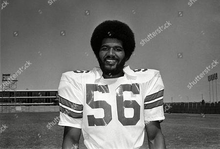 Thomas Henderson (56) player of Dallas Cowboys shown September 1975