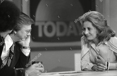 "Stock Photo of Barbara Walters, right, chats with co-host Jim Hartz during the ""Today"" broadcast on from New York. Thursday marked Walters' last five appearance on the National Broadcasting Company Network"