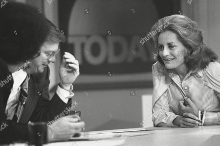 "Stock Image of Barbara Walters, right, chats with co-host Jim Hartz during the ""Today"" broadcast on from New York. Thursday marked Walters' last five appearance on the National Broadcasting Company Network"