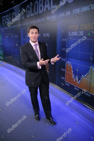 Editorial picture of Ross Westgate, CNBC anchorman, Britain Mar 2007