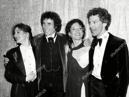 """Lupone Dale Frelich Rubenstein Tony award winners, from left, Patti Lupone, Jim Dale, Phyllis Frelich and John Rubenstein pose at the 34th Annual Tony Awards ceremony at the Mark Hellinger Theatre in New York City, Sunday night, . Lupone won best actress in a musical for """"Evita."""" Dale won best actor in a musical for """"Barnum."""" Frelich, who has been deaf since birth, won best actress for her role in """"Children of a Lesser God,"""" and her co-star Rubinstein won best actor award for the season's best drama on Broadway"""