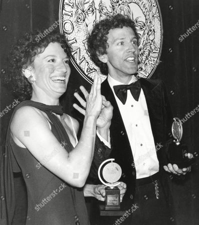 """Frelich Rubenstein Phyllis Frelich and co-star John Rubenstein talk to guests in sign language at the 34th Annual Tony Awards dinner in New York City on Sunday night, . Frelich, who has been deaf since birth, won best actress for her role in """"Children of a Lesser God."""" Rubinstein won best actor award for the season's best drama on Broadway"""