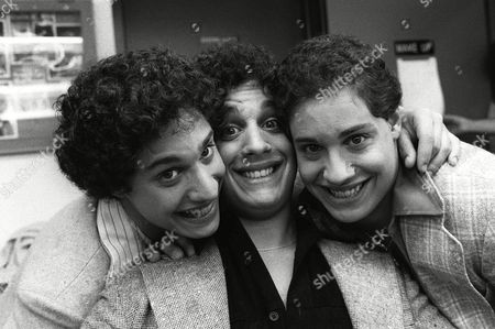 "SHAFRAN Recently re-united triplets pose at NBC-TV morning of Sept.26, 1980 after an appearance on the ""Today Show"" in New York. The brothers, adopted at birth by three separate families in the New York metropolitan area, only learned of each other's existence earlier in the week. From left, are: Robert Shafran; Eddy Gelland; and David Kellman"