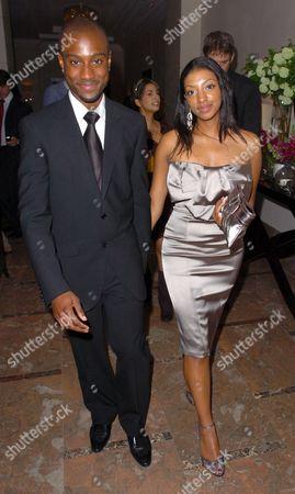 Stock Photo of Michael Obiora and girlfriend