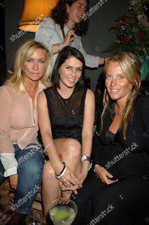 Meg Mathews, Sadie Frost and Davinia Gardner