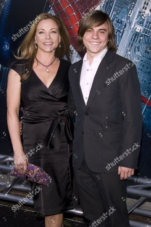 Theresa Russell and son
