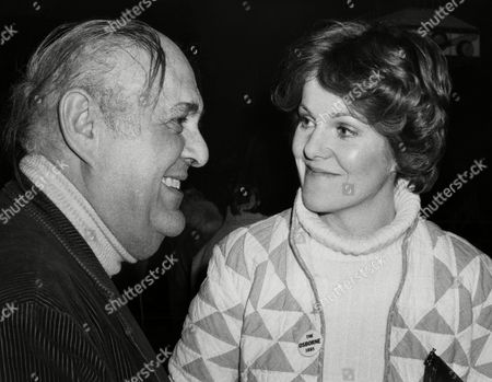 """Zero Mostel, Lynn Redgrave Actor Zero Mostel and Actress Lynn Redgrave chat at a party in New York's Greenwich Village, following the screening of """"next stop Greenwich village."""" The film is about life in the village section of Manhattan during the 1950s"""