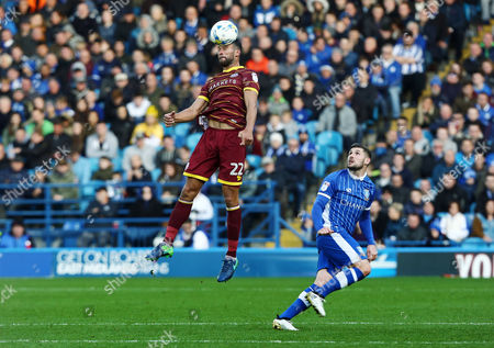 Steven Caulker of QPR and Gary Hooper of Sheffield Wednesday during the Sky Bet Championship match between Sheffield Wednesday and QPR played at Hillsborough Stadium, Sheffield on 22nd October 2016
