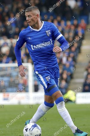 Gillingham FC defender Paul Konchesky (12) during the EFL Sky Bet League 1 match between Gillingham and Charlton Athletic at the MEMS Priestfield Stadium, Gillingham
