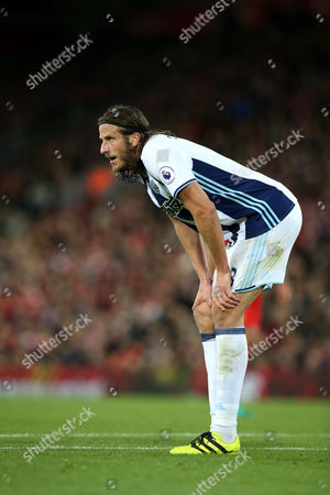 Jonas Olsson during the Premier League match between Liverpool and West Bromwich Albion played at Anfield, Liverpool on 22nd October 2016