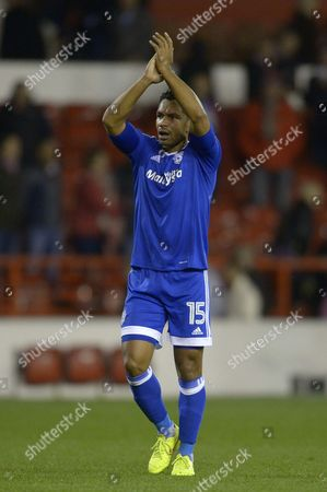 Kieran Richardson of Cardiff City at full time during the Sky Bet Championship match between Nottingham Forest and Cardiff City played at the City Ground, Nottingham on 22nd October 2016