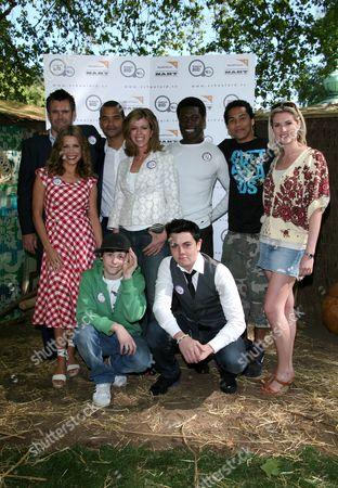 Group shot - Melinda Messenger, Lil' Chris, Kate Garraway, Ortis Deley, Ray Quinn and Sarah Jane Dunn