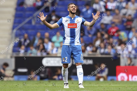 Martin Demichelis of Espanyol reacts during the Liga match between RCD Espanyol and SD Eibar played at the RCD Espanyol Stadium, Barcelona, Spain on 22th October 2016