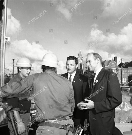 Birch Bayh, Andrew Jacobs Birch E. Bayh Jr., second from right, and Andrew Jacobs, right, Democratic candidates opposing incumbent Republicans this Fall, do some campaign talking around an Indianapolis construction project, in Indianapolis. Bayh is trying for Homer E. Capehart's U.S. Senate seat and Jacobs is running against 11th District Representative Donald C. Bruce. At left is electrical worker Glen Shirey