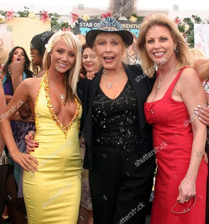 Sara Jean Underwood, Playboy's 2007 Playmate of the Year, Stella Stevens and Debbie Boostrom, Playmate from August 1981