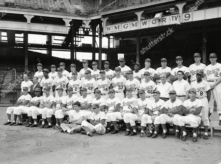 Editorial image of Brooklyn Dodgers 1957, New York, USA