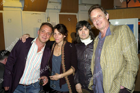 Nick Laird-Clowes and Joe Boyd with guests