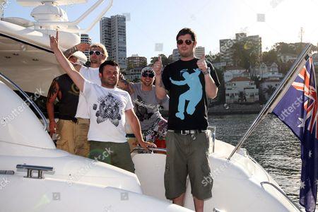 (l-r) - Matthew Pritchard, Michael 'Pancho' Locke, Lee Dainton and Dan Joyce  of TV programme 'Dirty Sanchez'
