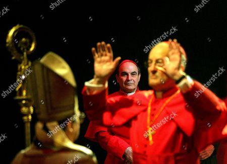 Richard O'Callaghan (Pope John Paul), David Suchet (Cardinal Benelli) and Charles Kay (Cardinal Felici)