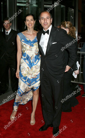 Matt Lauer with wife Annette Roque