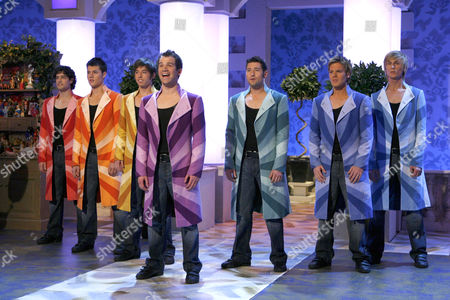 'Joseph'  Any Dream Will Do, Daniel Boys, Craig Chalmers, Ben Ellis,  Rob McVeigh, Lewis Bradley, Lee Mead, Keith Jack.