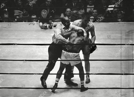 Editorial image of Floyd Patterson and George Chuvalo Action, New York, USA