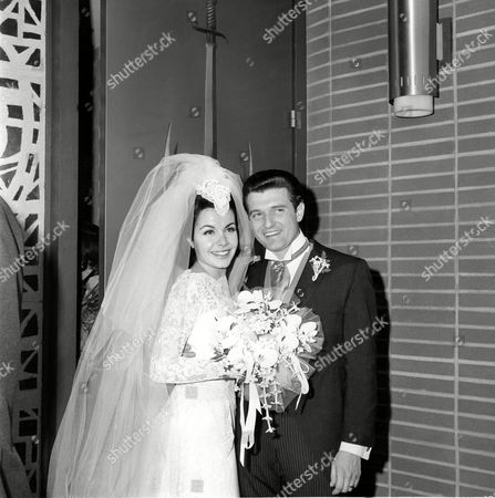 Newlyweds actress Annette Funicello and her groom, motion picture agent Jack Gilardi, are leaving St. Cyril's Roman Catholic Church in Encino, Calif.,, following their wedding ceremony