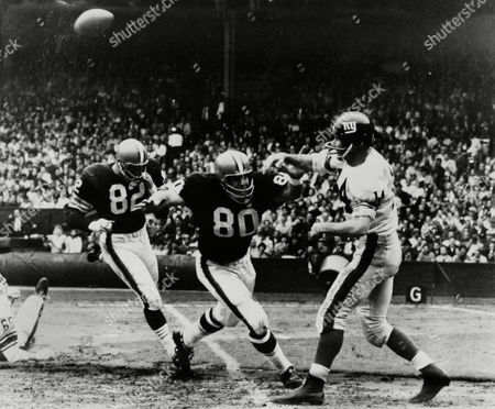Editorial image of Giants Browns 1963, Cleveland, USA