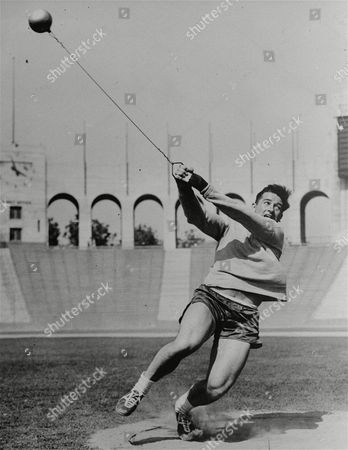 Editorial photo of HAROLD CONNOLLY HAMMER THROW, LOS ANGELES, USA